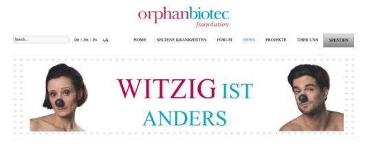 v-worlds unterstützt die Black Nose-Kampagne von Orphanbiotec